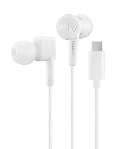 PALOVUE Auriculares Tipo C Auricular In-Ear USB C con Micrófono y Control de Volumen para Google Pixel Samsung Huawei...