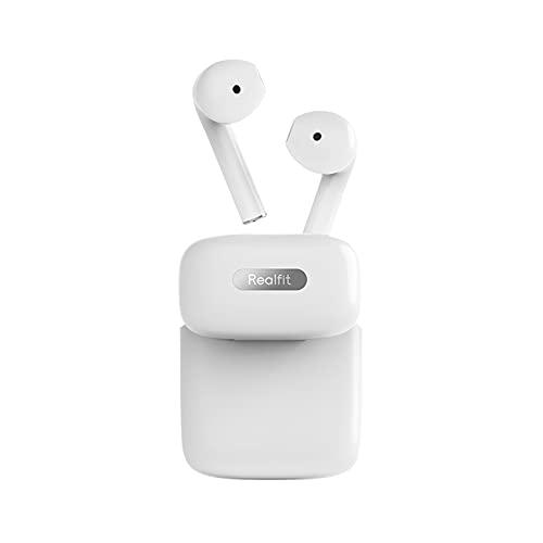 Realfit Gopods E3 Auriculares Bluetooth Inalámbricos, Bluetooth 5.0 Auriculares Inalámbricos Diseño en Media Oreja,...