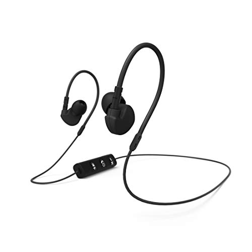 Hama Run BT Dentro de oído Binaural Inalámbrico Negro - Auriculares (Inalámbrico, Dentro de oído, Binaural,...