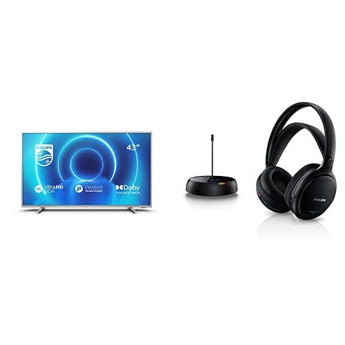 Philips 43PUS7555/12 Televisor 4K UHD de 43' (P5 Engine, Dolby Vision∙Atmos, HDR 10+, Saphi Smart TV) con Auriculares...
