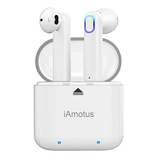 Auriculares Bluetooth, iAmotus Auriculares Inalámbricos Bluetooth 5.0 Auriculares Bluetooth Deportivos con Micrófono,...