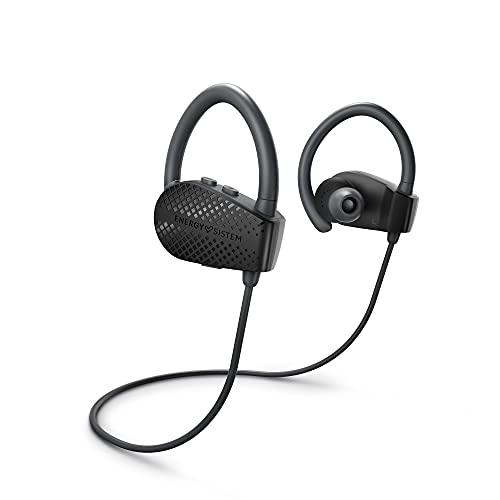 Energy Sistem Earphones Bluetooth Sport 1+ Dark (Bluetooth 5.1, Control por Voz Voice Assistant, Sistema de sujeción...