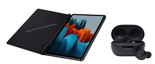 Home Office Set - Funda Tipo Libro para Samsung Tab S7 (Incluye Auriculares JBL Tune TWS 115), Color Negro