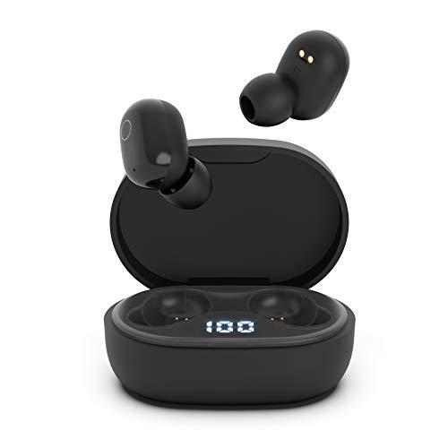 Auriculares Inalambricos, QueenDer Auriculares Bluetooth Deep Bass Estéreo Mini Twins In Ear con Micrófono...