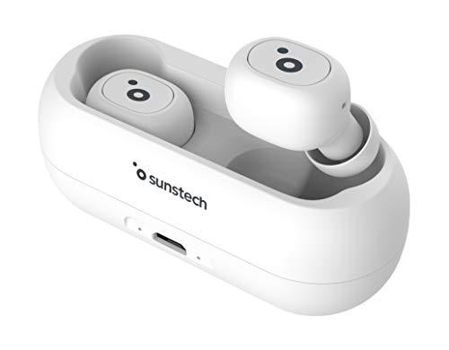 SUNSTECH WAVEPODS LITE. Auriculares TWS Inalámbricos Bluetooth 5.0 In-Ear. Ligeros (5 gr). Controles Multifunción....