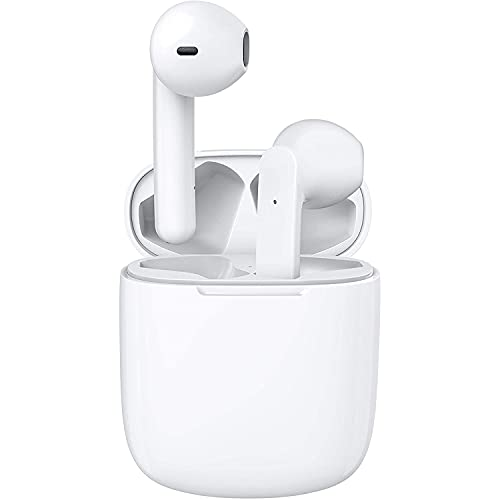 I12 Auriculares Inalámbricos Bluetooth 5.0 Super Bass Earbuds TWS (Blanco)
