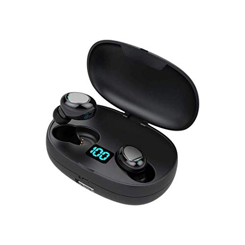 Mini Auriculares Bluetooth Auriculares Inalámbricos 5.0 con HD HiFi Estéreo, Super Ligero Sport Auriculares con...