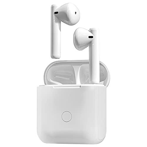 Auriculares inalámbricos Verdaderos Auriculares Bluetooth Control táctil con Estuche de Carga inalámbrica IPX8...