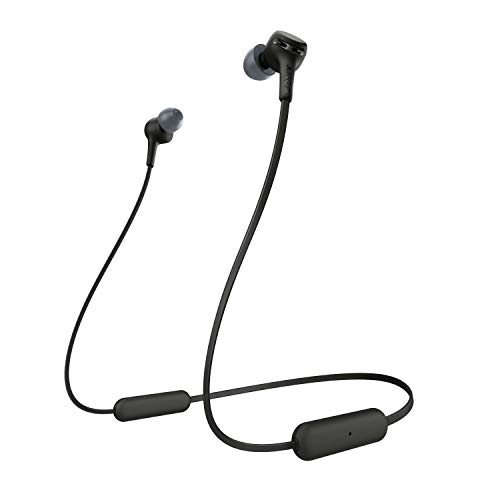 Sony WIXB400 - Auriculares inalámbricos de botón (Bluetooth, Extra Bass, 15h de batería, Tapones magnéticos para...