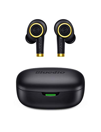 Auriculares Bluetooth, Bluedio P(Particle) Auriculares Inalámbricos Bluetooth 5.0 Mini Twins Estéreo In-Ear con Caja...