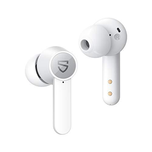 SoundPEATS Auriculares Inalámbricos con cancelación de Ruido, 4 Micrófonos, Auriculares Bluetooth Control Tactil,...