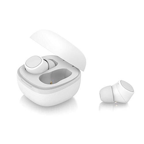 PRIXTON TWS156C - Auriculares Bluetooth 5.0 / Auriculares Inalambricos con 3 Adaptadores, Control por Botón, Asistente...