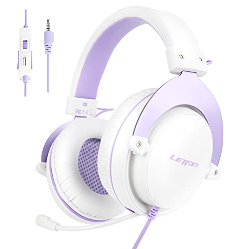 Juegos Auriculares PS4, LETTON Auriculares Gaming de Estéreo con Micrófono Bass Surround y Cancelación de Ruido...