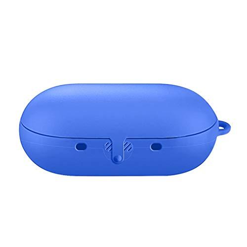 Funda protectora de silicona flexible antigolpes con mosquetón para Samsung Gear IconX 2018 auriculares inalámbricos...