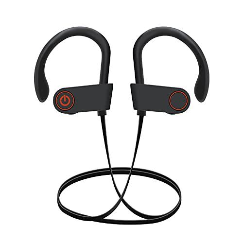 Auriculares Bluetooth, Auriculares Deportivos IPX7, Resistentes al Agua, Estéreo, 8 Horas de Tiempo de Reproducción en...