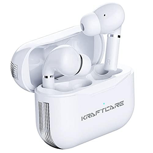 KRAFTCARE Auriculares inalámbricos Bluetooth 5.1, Auriculares Bluetooth Deportivos, Carga Rápida USB-C, Control...