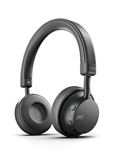 JAYS Auriculares Bluetooth Inalámbricos - a-Seven - Canoso - Cascos 25h de duración & con microfono