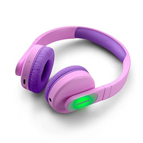 TAK4206PK/00 Phillips Auriculares Inalámbricos para Niños, Auriculares con Volumen Limitado, 28 Horas de Reproduccion,...