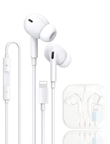 Auriculares para iPhone,Cascos In Ear,Resistentes al Sudor,Cascos con cancelación de Ruido, Auriculares con micrófono...