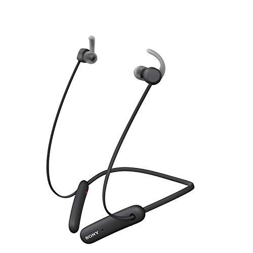 Sony WISP510B - Auriculares inalámbricos Deportivos (15 h de batería, Resistencia IPX5, diseño Neckband, Recoge Cable...