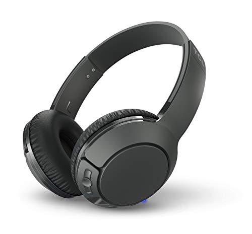 TCL MTRO200BT Auriculares inalámbricos con micrófono (Bluetooth 4.2, con aislamiento de ruido, almohadillas de cuero,...