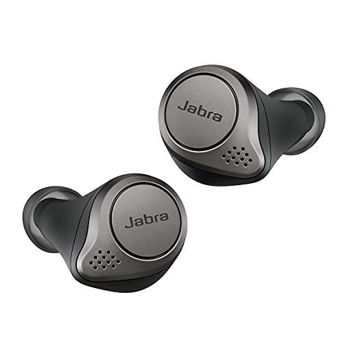 Jabra Elite 75t, Auriculares Bluetooth con Cancelación Activa de Ruido y batería de larga duración, Llamadas y...