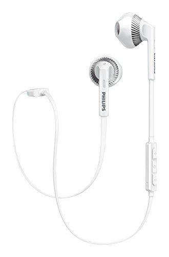 Philips SHB5250WT MyJam Fresh Tones - Auriculares Bluetooth (micrófono, Cable Plano antienredos, diseño Abierto),...