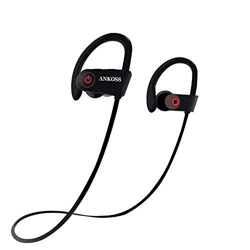 Auriculares Bluetooth deportivos, inalámbricos, con micrófono HD, impermeables, resistentes al sudor, para correr,...