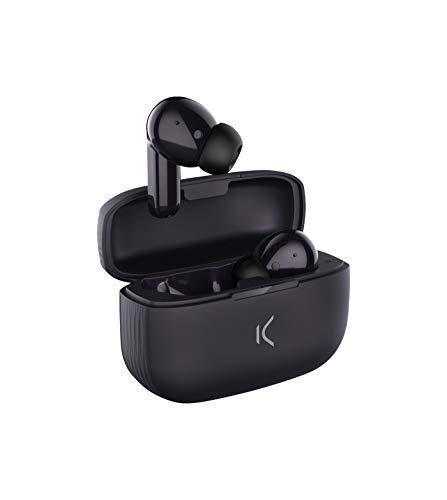 Ksix Auriculares Inalámbricos True Buds 2 con Micro, Compatibles con Google Assistant y Siri y 20 h de Reproducción,...