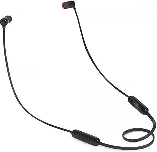 JBL T110BT - Auriculares inalámbricos con sonido Pure Bass, Bluetooth, mando a distancia y micrófono, batería de...