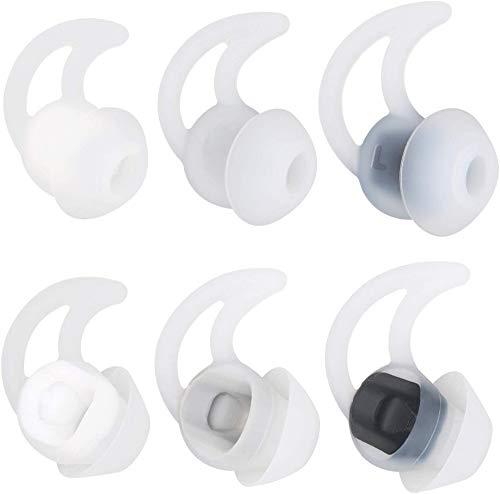QC20 - Auriculares inalámbricos de silicona con doble brida para Bose QuietControl 30 QC20 QC20i QC30 Soundsport Free...
