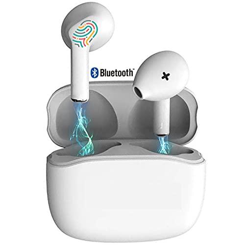 Auriculares Inalámbricos, Auriculares con microfono,HiFi Estéreo Auriculares Bluetooth,Control Táctil,Cancelación de...