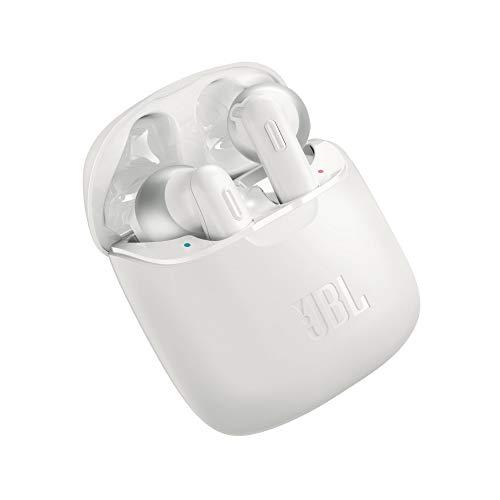 JBL Tune 220 - Auriculares inalámbricos con Bluetooth y JBL Pure Bass Sound, 20 h de música continua y estuche de...
