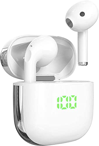 Auriculares inalámbricos Bluetooth V5.1, TWS Cascos Bluetooth inalámbrico,Sonido Estéreo AuricularTwins In-Ear...