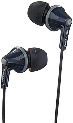 Panasonic RP-HJE125E-K Auriculares Boton con Cable In-Ear (Headphone Sonido Estéreo para Móvil, MP3/MP4, Diseño de...