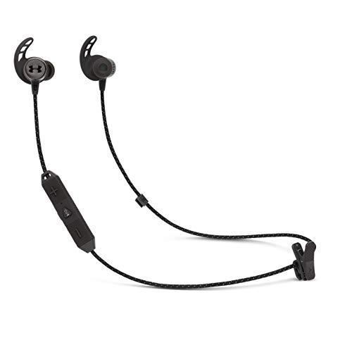 JBL Under Armour Sport REACT - Auriculares inalámbricos deportivos, cascos con Bluetooth y audífono biónico,...