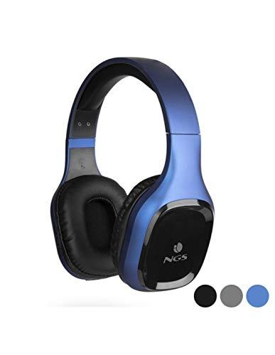 NGS ARTICA Sloth Blue - Auriculares Inalámbricos Bluetooth 5.0 con Micrófono, Batería de 10 Horas, 20 Hz, Color Azul