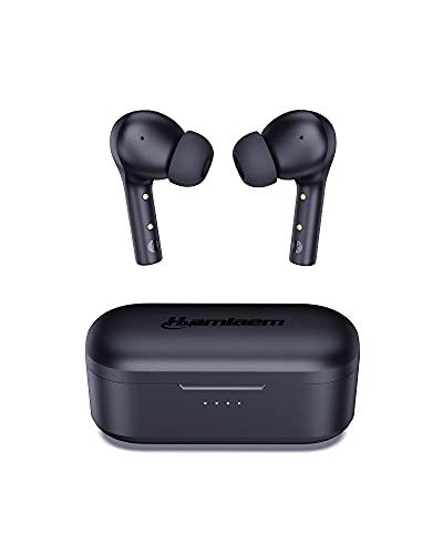 Hamlaem Auriculares Inalámbricos Bluetooth 5.2, Auriculares Bluetooth Estuche de Carga Inalámbrica, IPX8 Impermeable,...