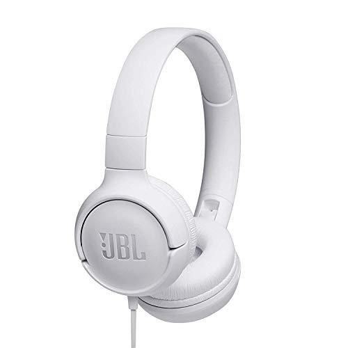 JBL Tune 500 - Auriculares supraaurales de cable y control remoto de un solo botón, micrófono incluido, asistente de...