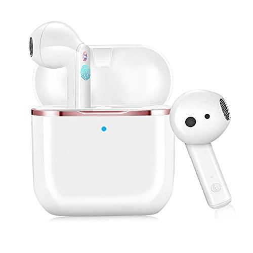 Auriculares Inalámbricos Bluetooth 5.1, In-Ear Auriculares Estéreo HI-FI con Micrófono IPX6 Impermeable de...
