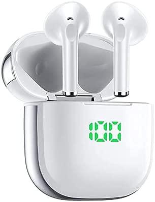 Auriculares Inalámbricos Bluetooth, VEATOOL Bluetooth 5.0 con Sonido Estéreo, IPX5 Auriculares Inalámbricos a Prueba...
