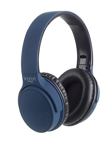 Vieta Pro Way – Auriculares inalámbricos (Bluetooth, Radio FM, micrófono Integrado, Entrada Auxiliar, Reproductor...