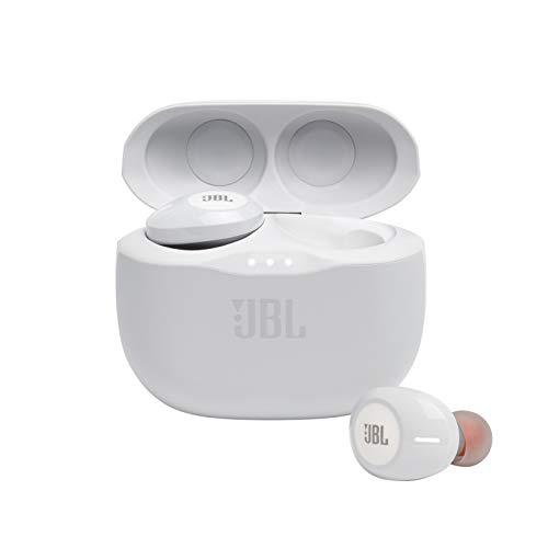 JBL 125 TWS Auriculares intraaurales realmente inalámbricos, con Bluetooth, Sonido Pure Bass y modo Dual Connect, hasta...