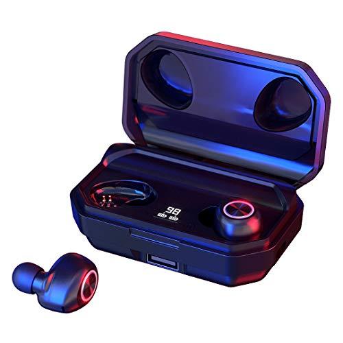 144 Horas de Reproducción con Nuestros Auriculares Inalámbricos, con Bluetooth 5.0 Auriculares Estéreo e...