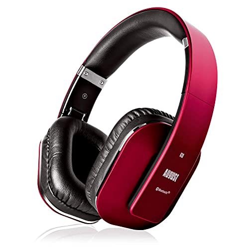 August EP650–Auriculares Bluetooth Inalámbrico–Auriculares Diadema Casco Plegable-Sonido Estéreo Bass...