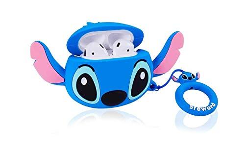 YUIP Funda Protectora para Auriculares inalámbricos de Dibujos Animados Apple Airpods 1 y 2 Funda Protectora Adecuada...