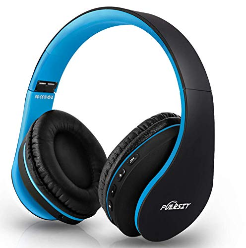 Puersit Auriculares Bluetooth de Diadema con Micrófono Cancelación Ruido Hi-Fi Estéreo Auriculares Inalámbricos...
