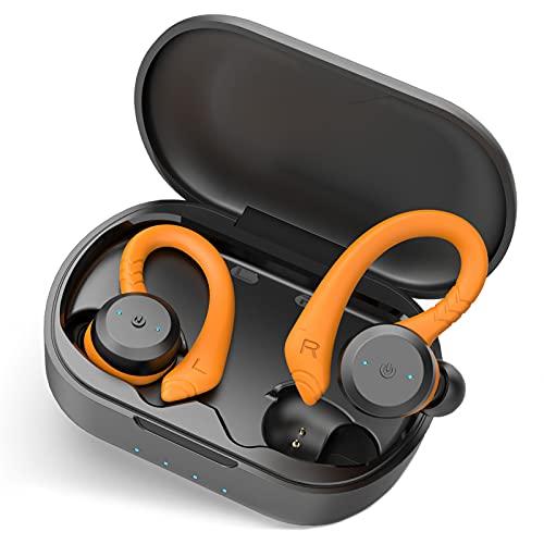 Auriculares Inalámbricos Deportivos, Auriculares Bluetooth 5.1 Estéreo con Micrófono, Cascos Inalambricos IPX7...
