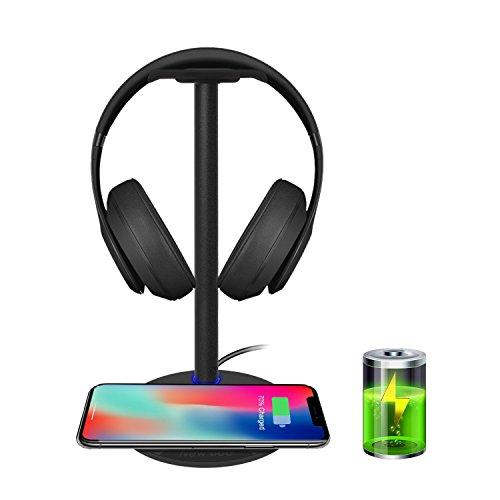 New Bee Cargador Inalámbrico 5W con Soporte Auriculares para iPhone XS MAX/XS/XR/X/ 8/8 Plus/, Samsung S9/ S9 Plus/ S8...
