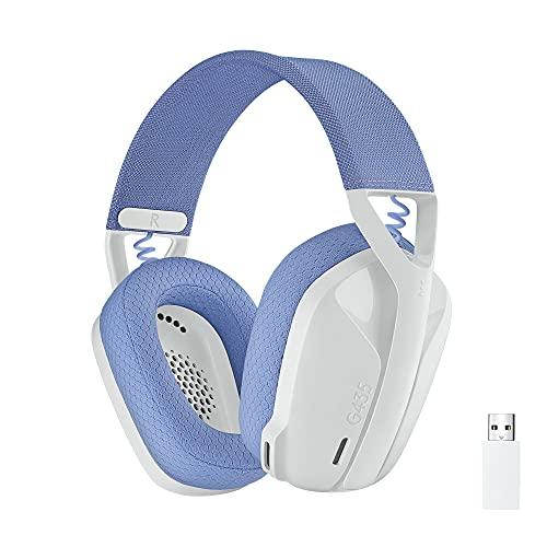 Logitech G435 Auriculares Inalámbricos LIGHTSPEED para Gaming - Ligeros, micrófono integrado, Batería de 18 horas,...